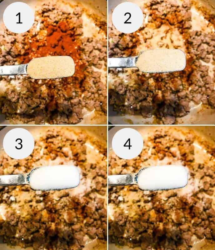 Step by step instructions for making Veal Cheeseburger Macaroni