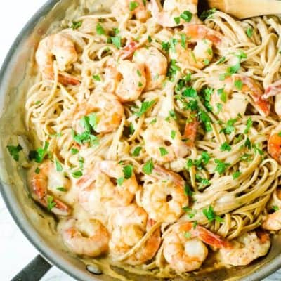 15 Minute Shrimp Alfredo