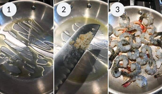 Step by step instructions for making shrimp alfredo recipe