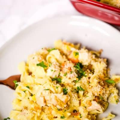 Creamy Chicken Pasta Casserole