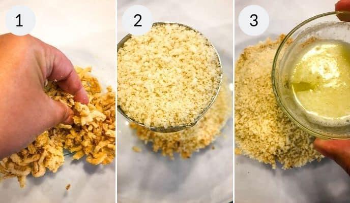 Next three steps in the creamy chicken pasta recipe