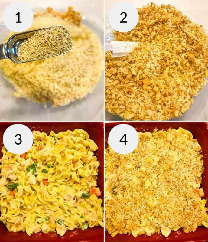 Final 4 instructions for creamy chicken pasta casserole