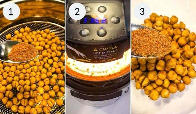 Steps 3 thru six to preparing your chickpeas