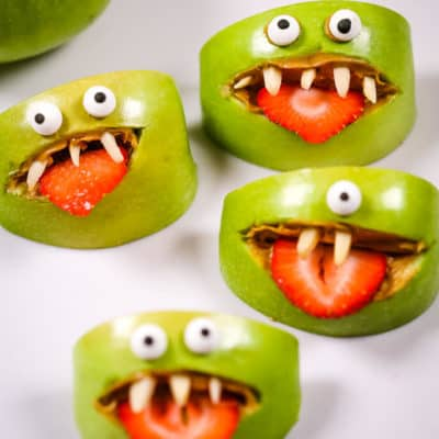Apple Monster Halloween Snacks