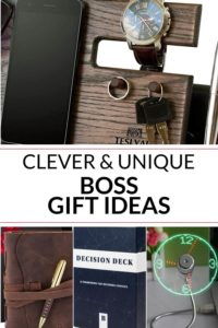 Collection of gifts for boss