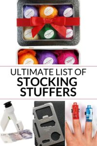 Collection of stocking stuffer ideas