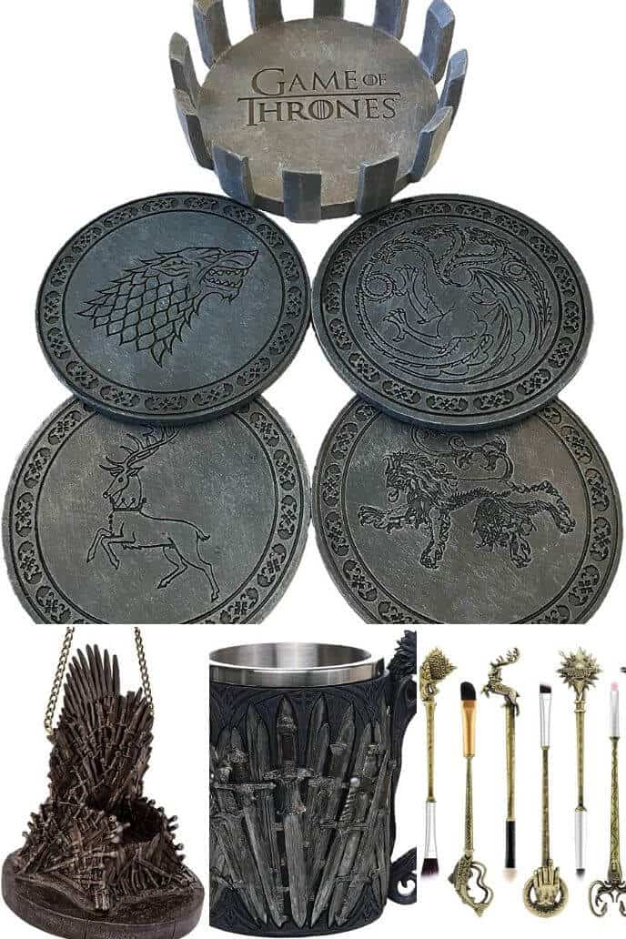 collection of Game of Thrones Gifts Under 25 Dollars