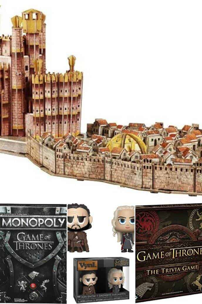 collection of Game of Thrones Games and Toys