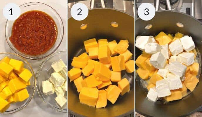 Step by step instructions for making Andy's Pizza Dip Recipe