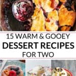 Collection of small batch desserts for two