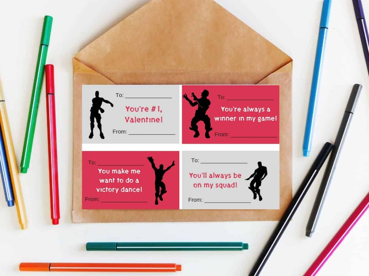 Fortnite Valentines Cards {free printables} | It Is a Keeper
