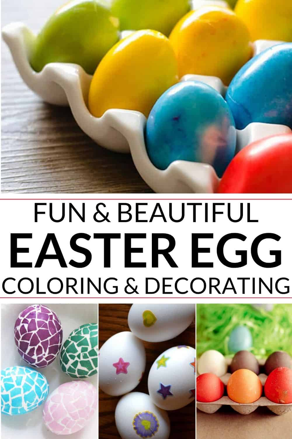 collection of easter egg coloring ideas