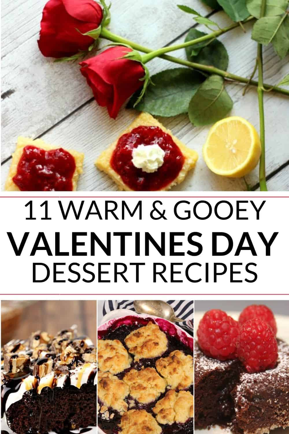 Collection of valentines day desserts