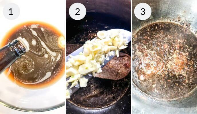 step by step instructions for making instant pot italian beef