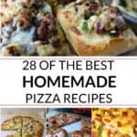 Collection of homemade pizza recipes