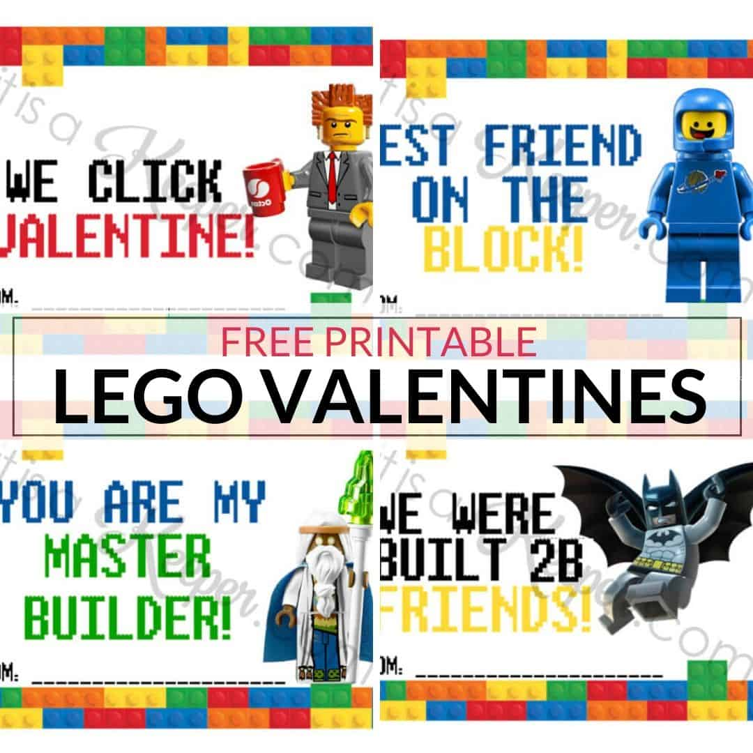 Lego Valentines Free Printable Valentines It Is A Keeper