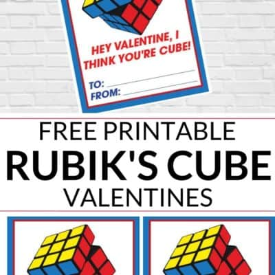 Rubik's Cube Valentine Day Card Printable