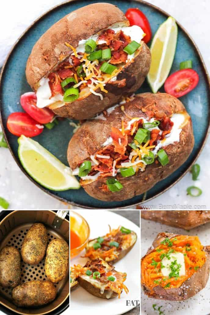 collection of Air Fryer Baked Potatoes Recipes