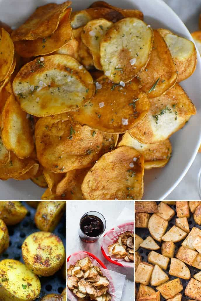 collection of Healthy Air Fryer Potato Recipes