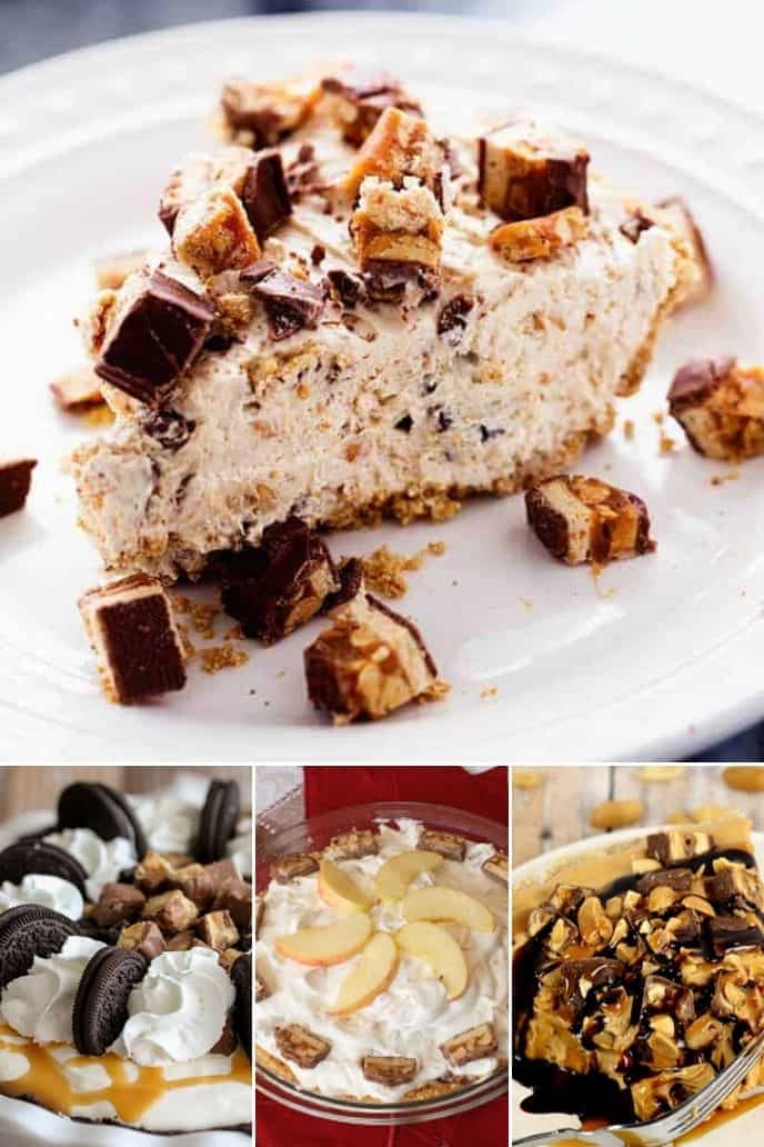 a variety of incredible snickers pie recipes.