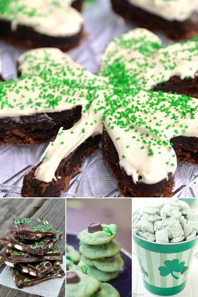 collection of St Patricks Day Food