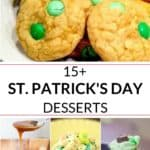 collection of st patrick's day desserts