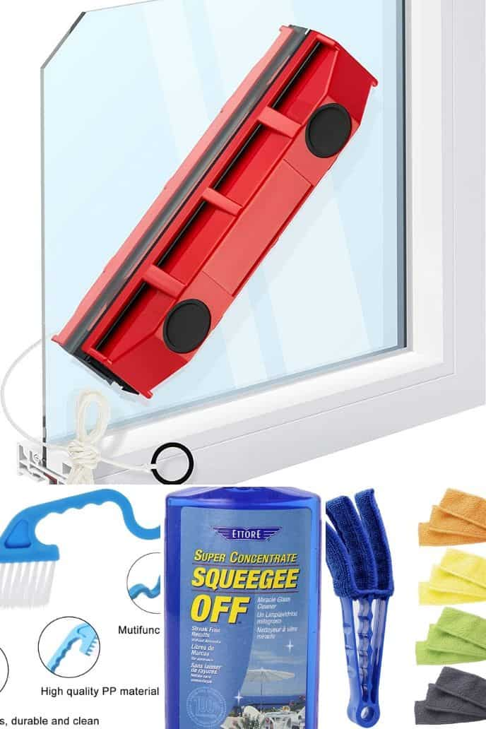 collection of Window Cleaning Supplies