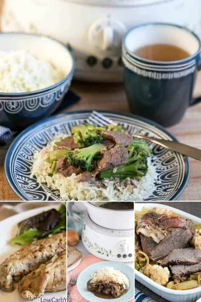 collection of Low Carb Slow Cooker Beef Recipes
