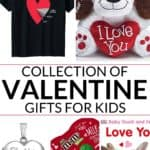 Collection of valentines gifts for kids