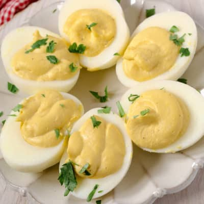 Caesar Deviled Eggs