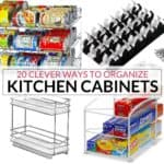 20 of the most clever ways on how to organize kitchen cabinets
