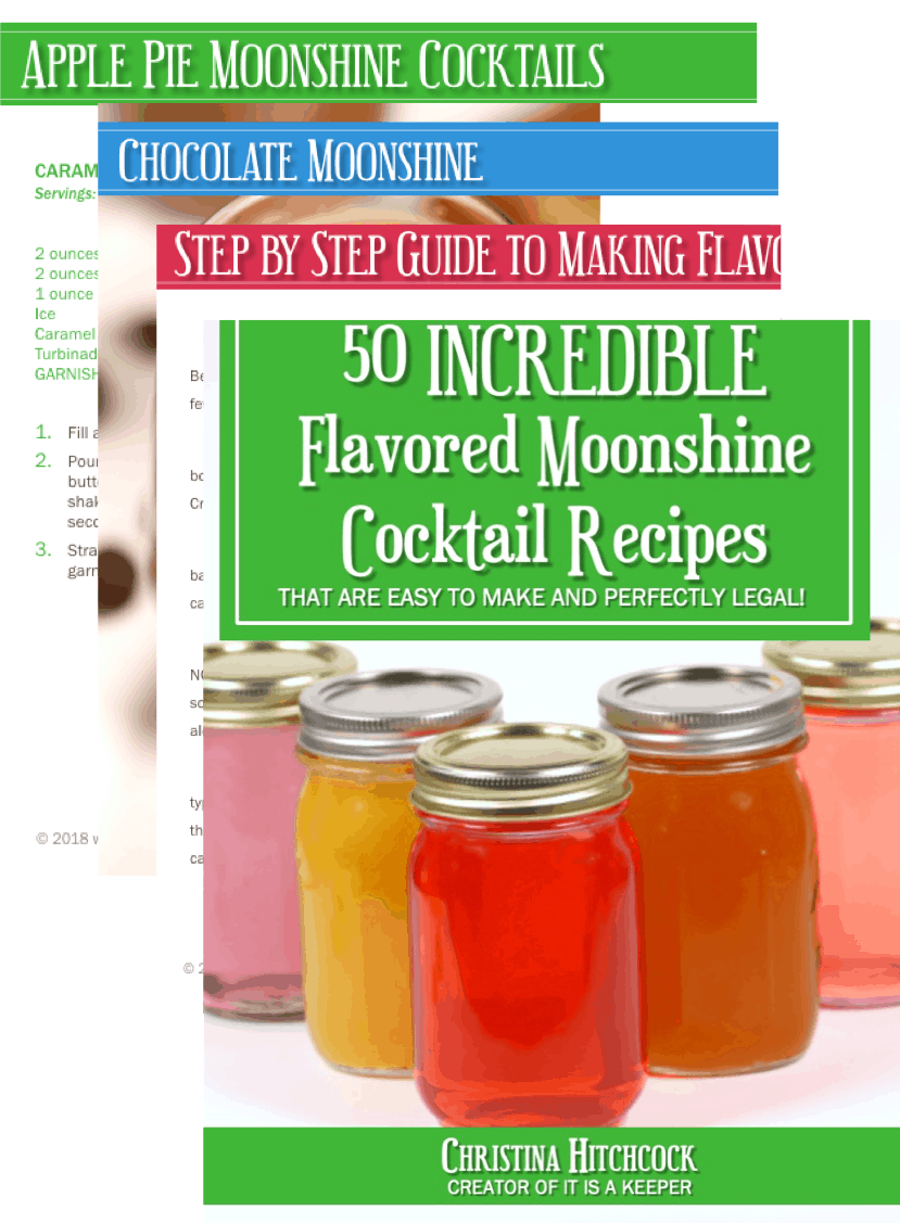 Flavored moonshine recipe book with peach moonshine