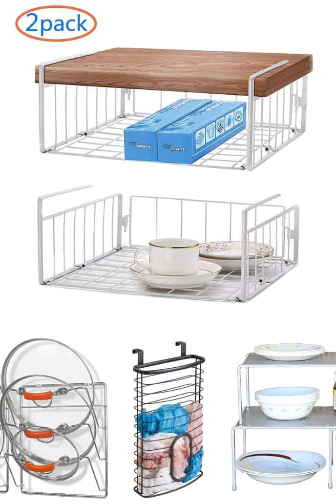 Recommended bins and racks for insides cabinets