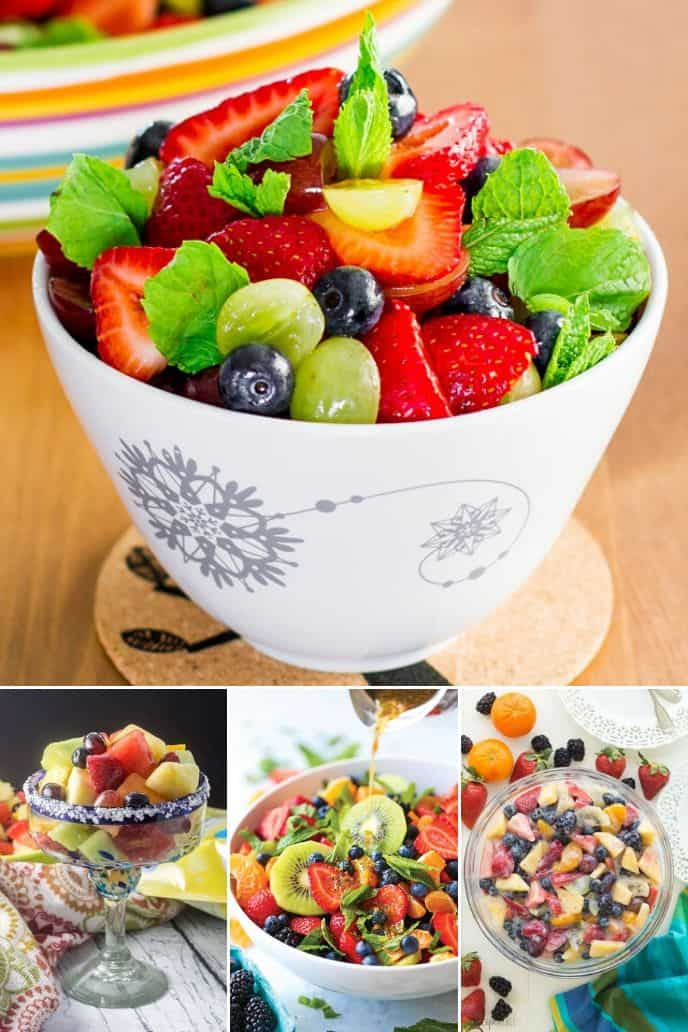 collection of fresh fruit salad dressing recipes