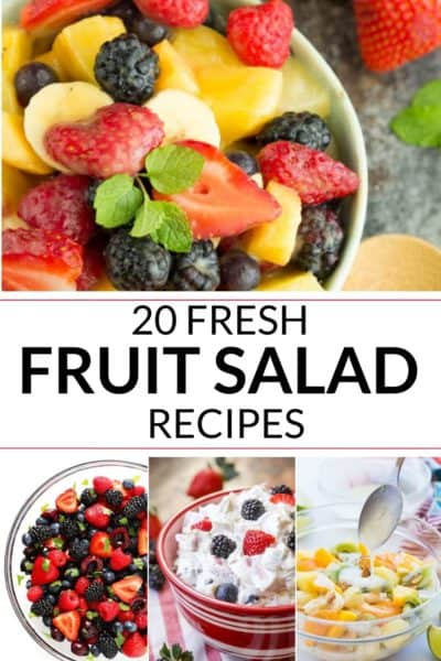 collection of fresh fruit salad recipe