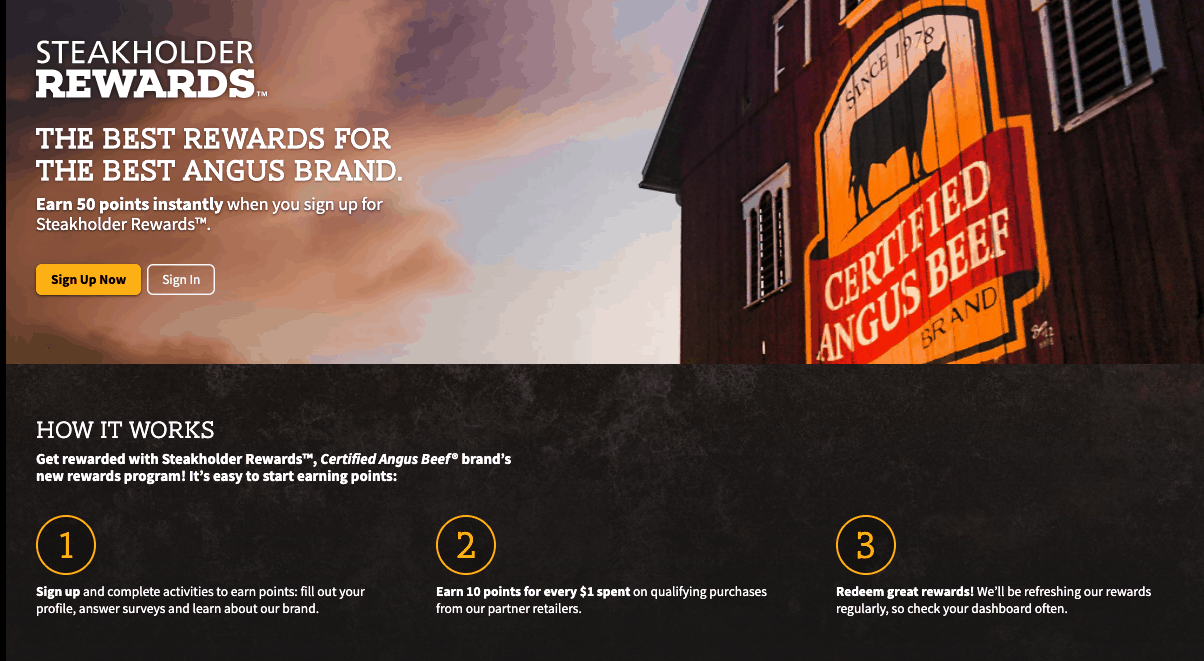 Certified Angus Beef Steakholder Rewards screenshot