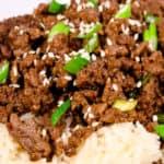 close up of beef bulgogi bowl