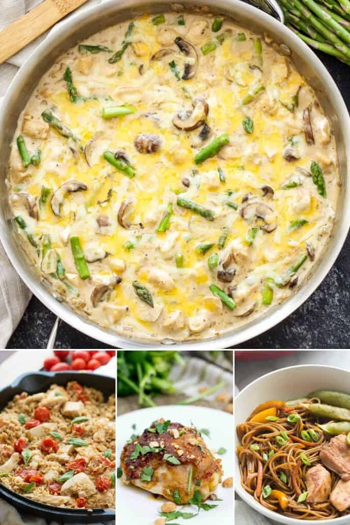 A collection of one pot chicken recipes that are amazing