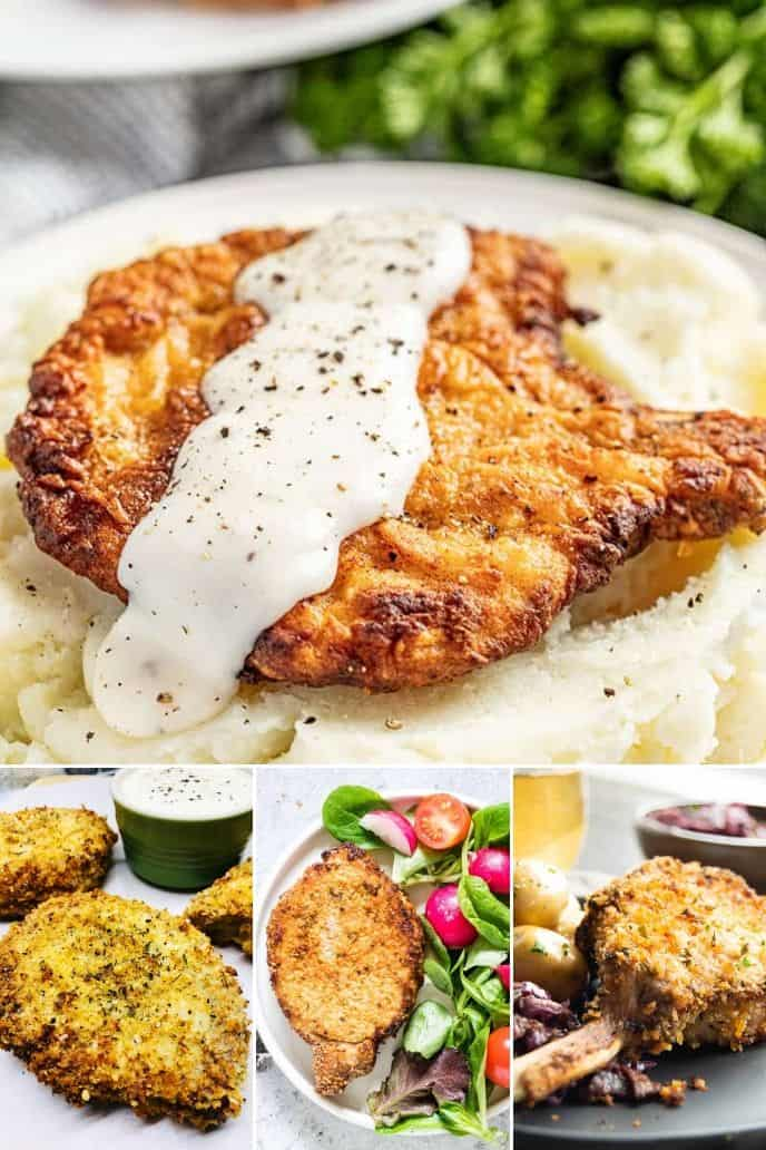 a group of crispy air fryer pork chop recipes