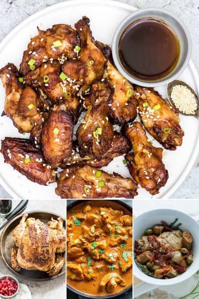 an assortment of delicious instant pot chicken recipes that are out of this world