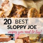 a collection of the 20 best sloppy Joe recipe