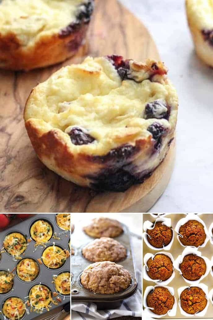 a variety of the best healthy muffin recipes