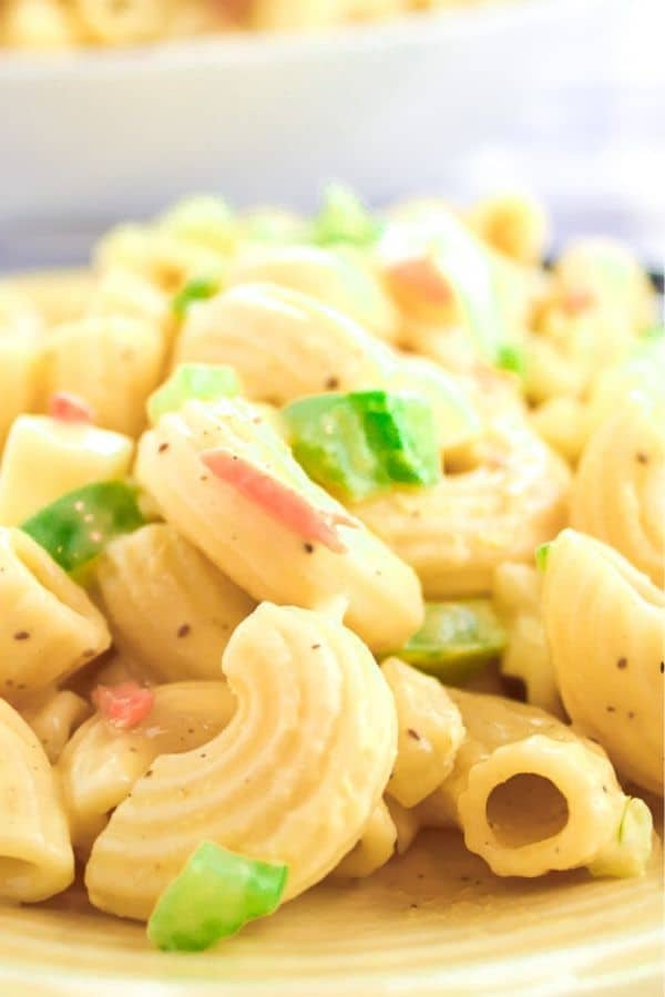 Close up picture of Classic Macaroni Salad