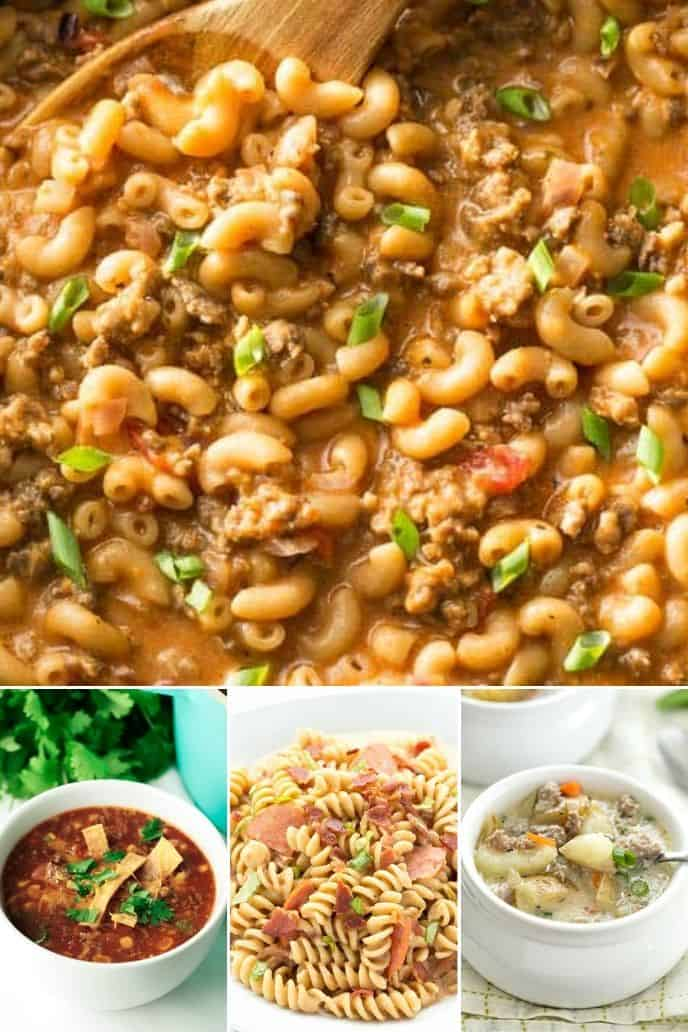 a variety of delicious one pot recipes