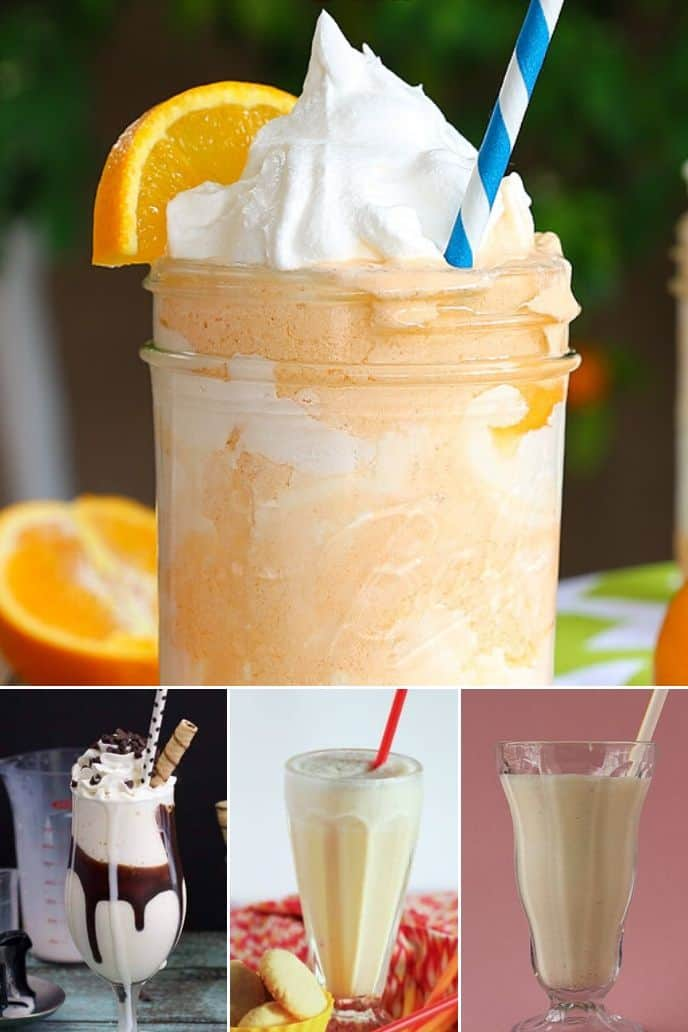 A variety of vanilla milkshake recipe