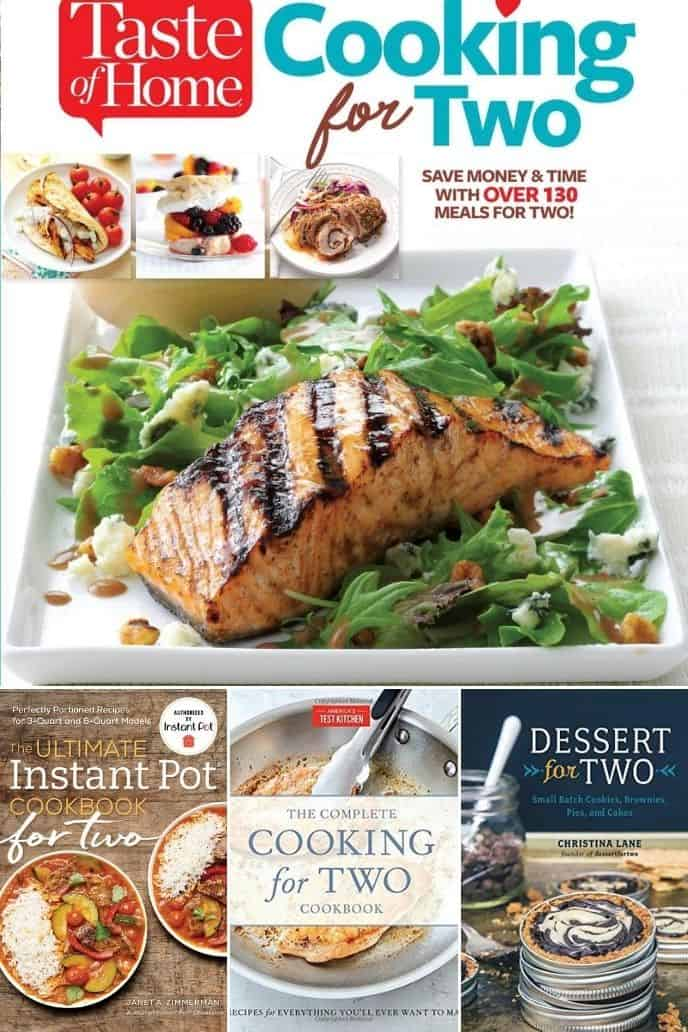 a list of must need cookbooks for cooking for two that you need