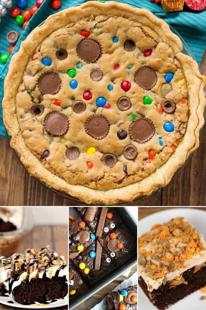 baked goods  made with leftover Halloween candy
