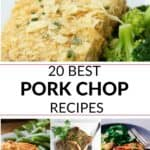 a group of the 20 best pork chop recipes