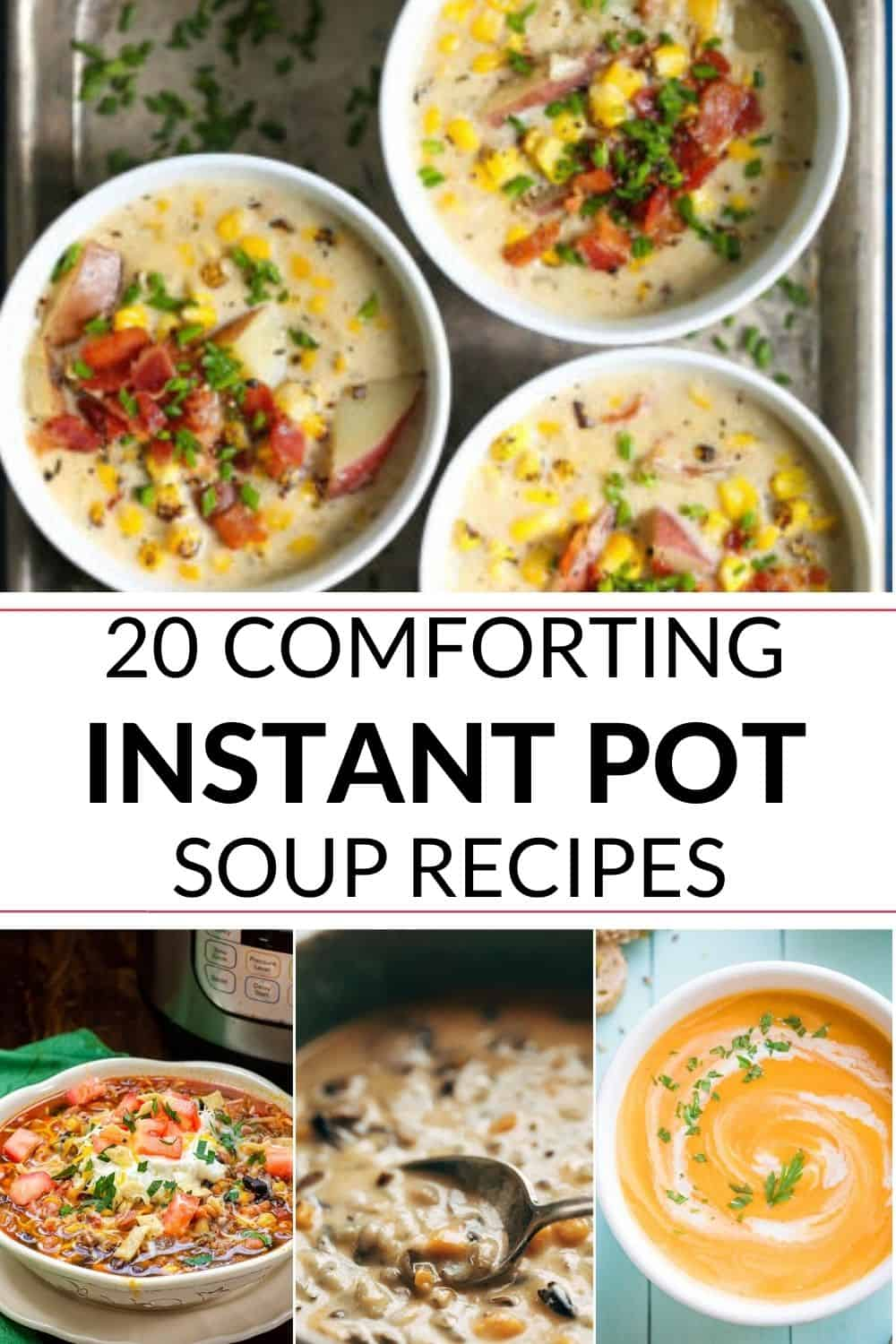 instant pot soup variety pictures