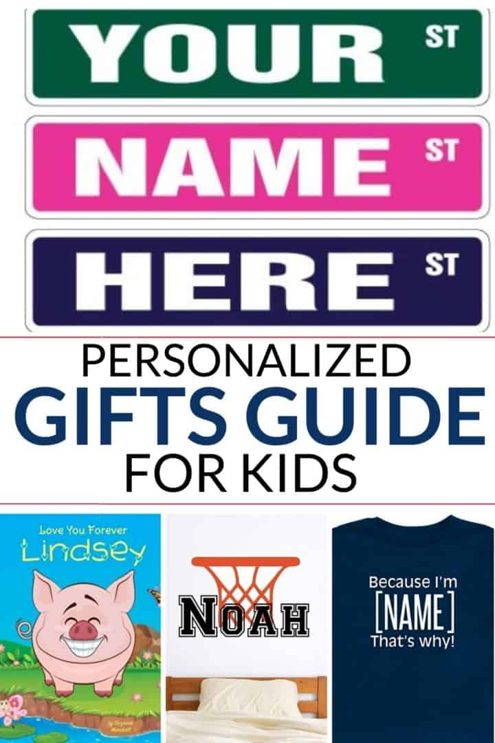 a great list of personalized gifts for kids that they will love